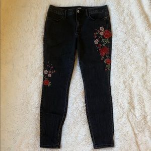 ana a new approach embroidered jegging jeans Sz 12